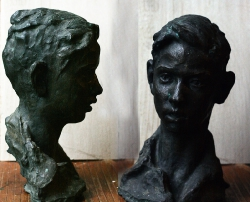 1954. Портрет Андрея Германиса. Бронза / Andreja Ģermaņa portrets. Bronza